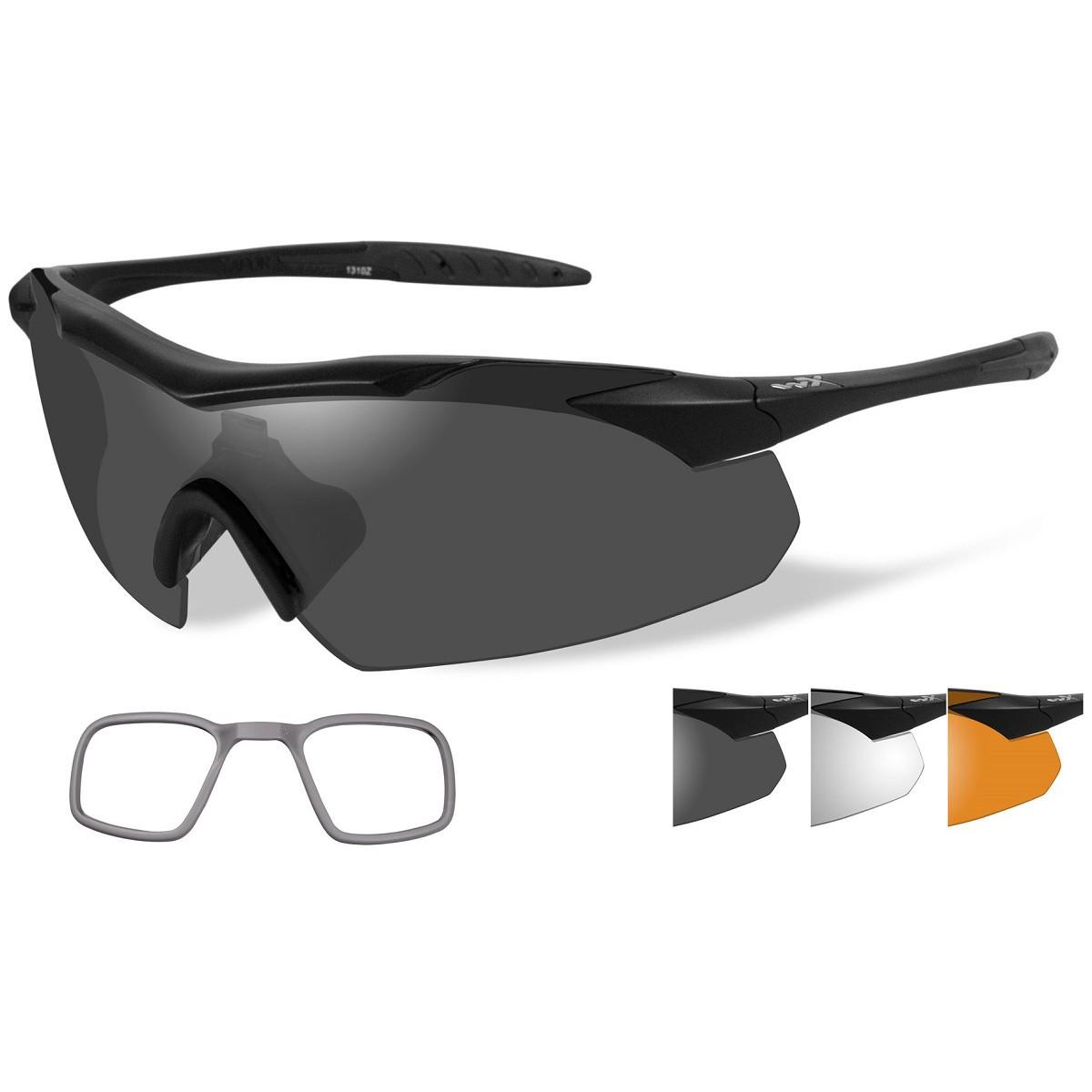 04c47139d0 Wiley X 3502RX WX Vapor Safety Glasses w  RX Inserts - Matte Black Frame -