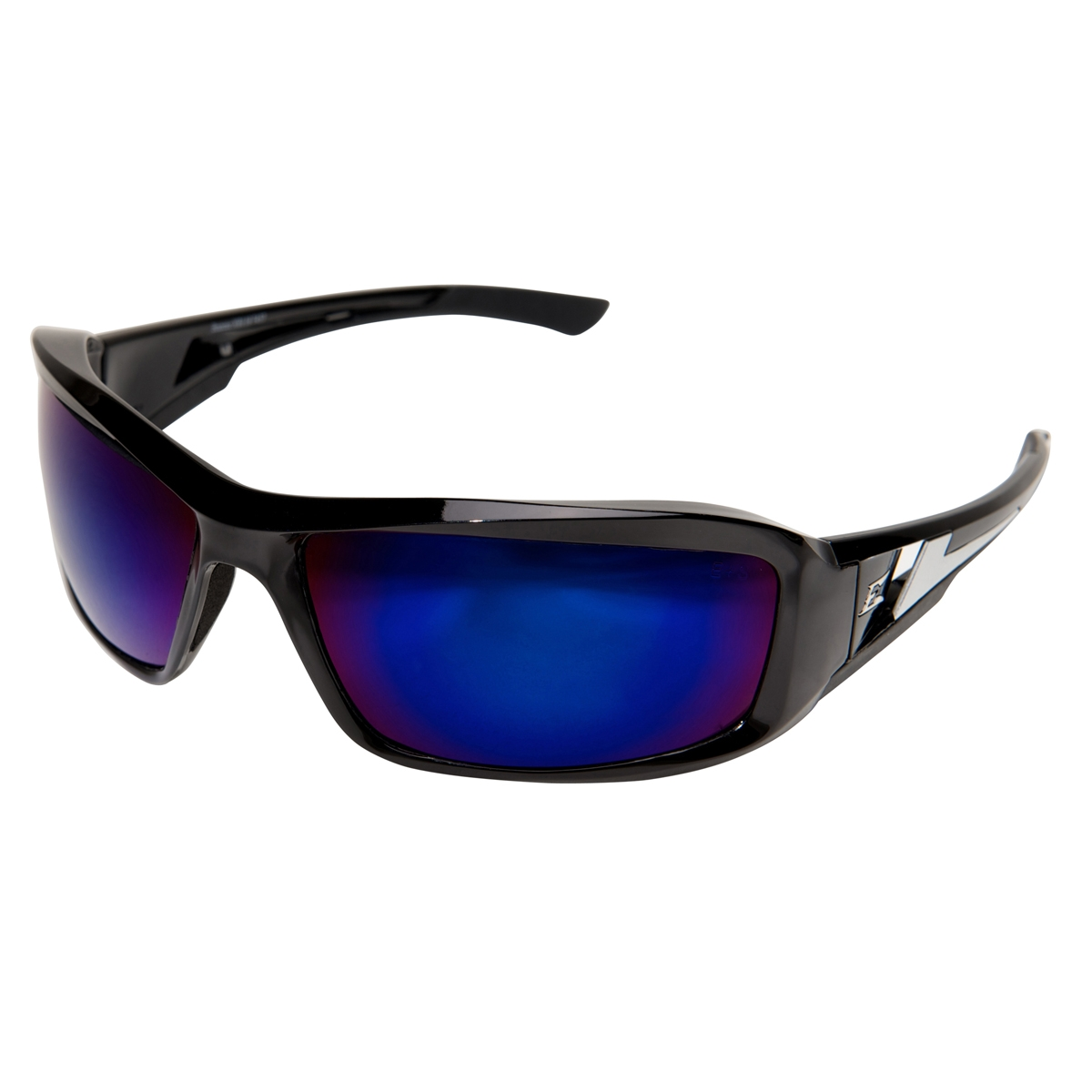 Safety Glasses Black Frame : Edge XB118 Brazeau Safety Glasses - Black Frame - Blue ...