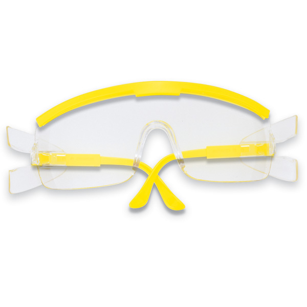 Glasses With Yellow Frame : Crews ZX Plus Safety Glasses - Yellow Frame - Clear Lens ...