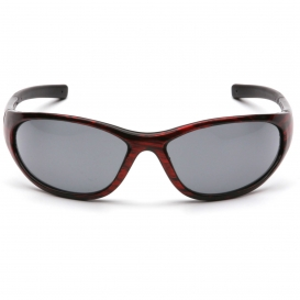 Wood Frame Safety Glasses : Pyramex Zone II Safety Glasses - Red Wood Frame - Gray ...