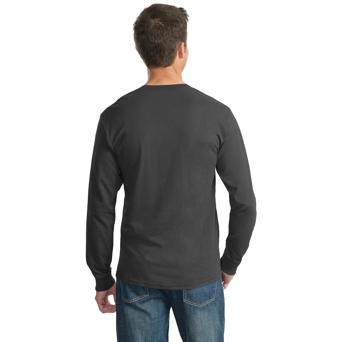 Jerzees 29LS Heavyweight Blend Long Sleeve T-Shirt - Charcoal Grey ...