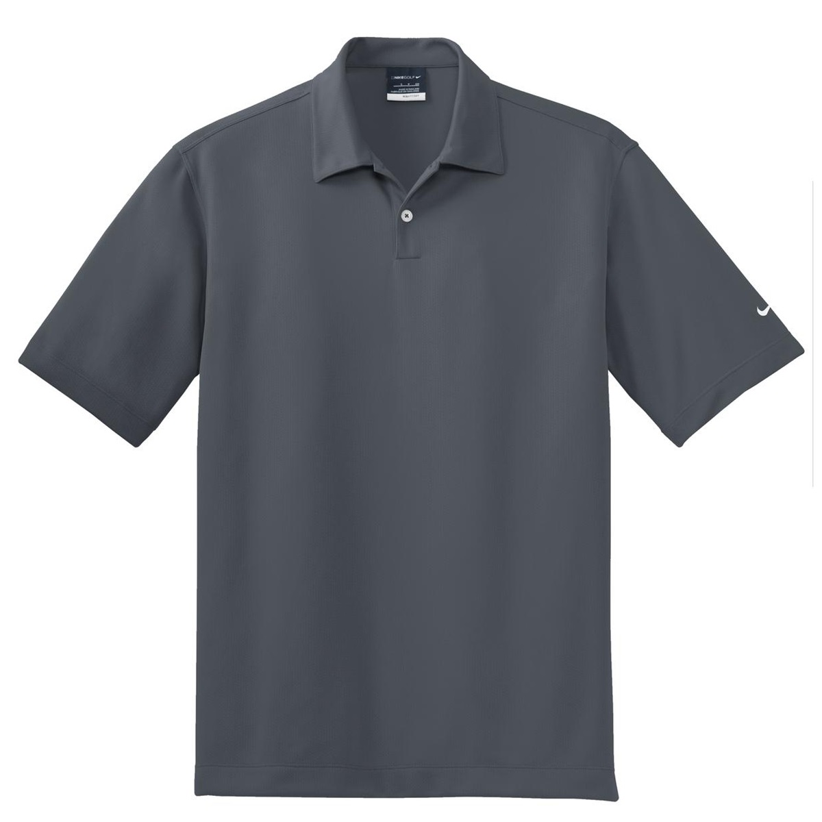 Nike Golf 373749 Dri Fit Pebble Texture Polo Dark Grey