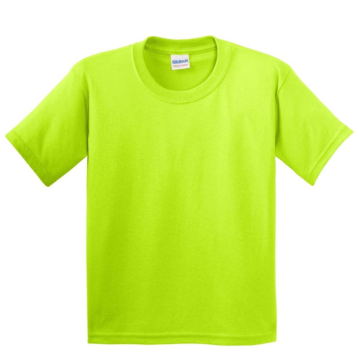 Gildan 5000b Youth Heavy Cotton T Shirt Safety Green