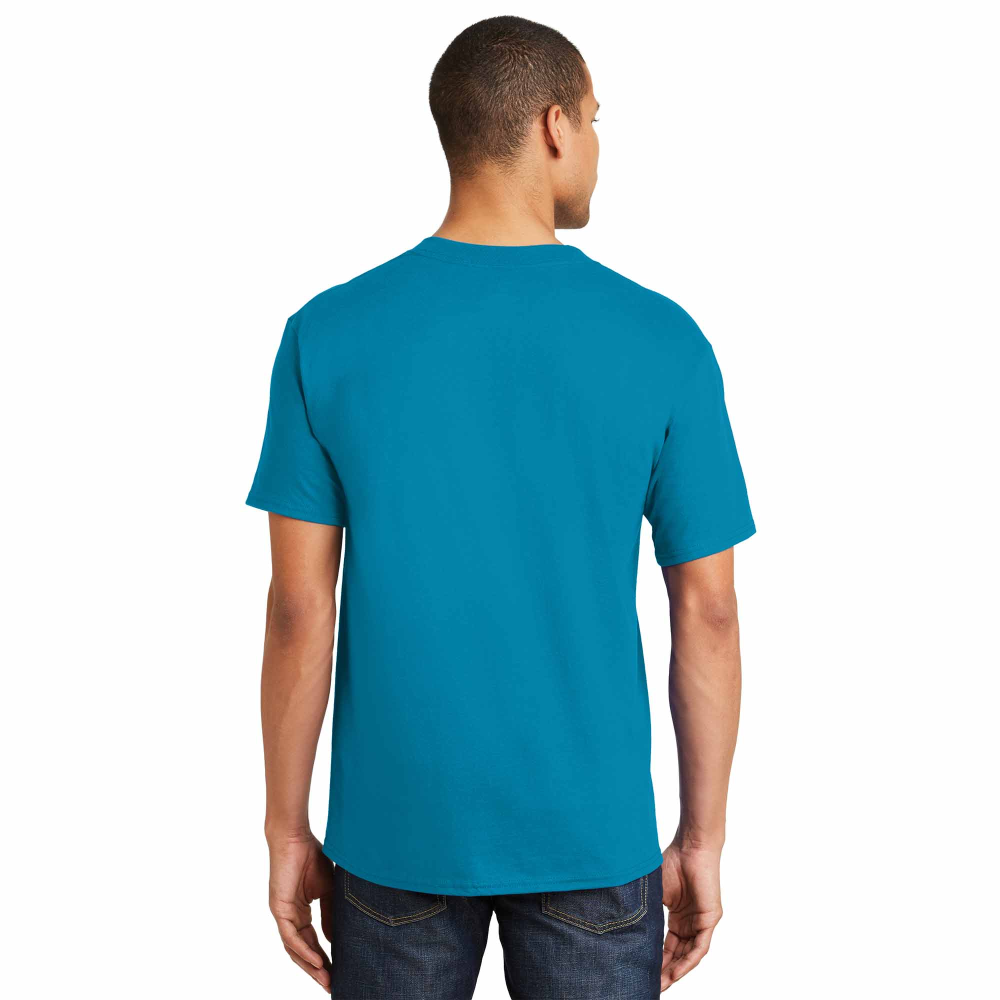 Hanes 5180 beefy t cotton t shirt teal for Hanes beefy t custom shirts
