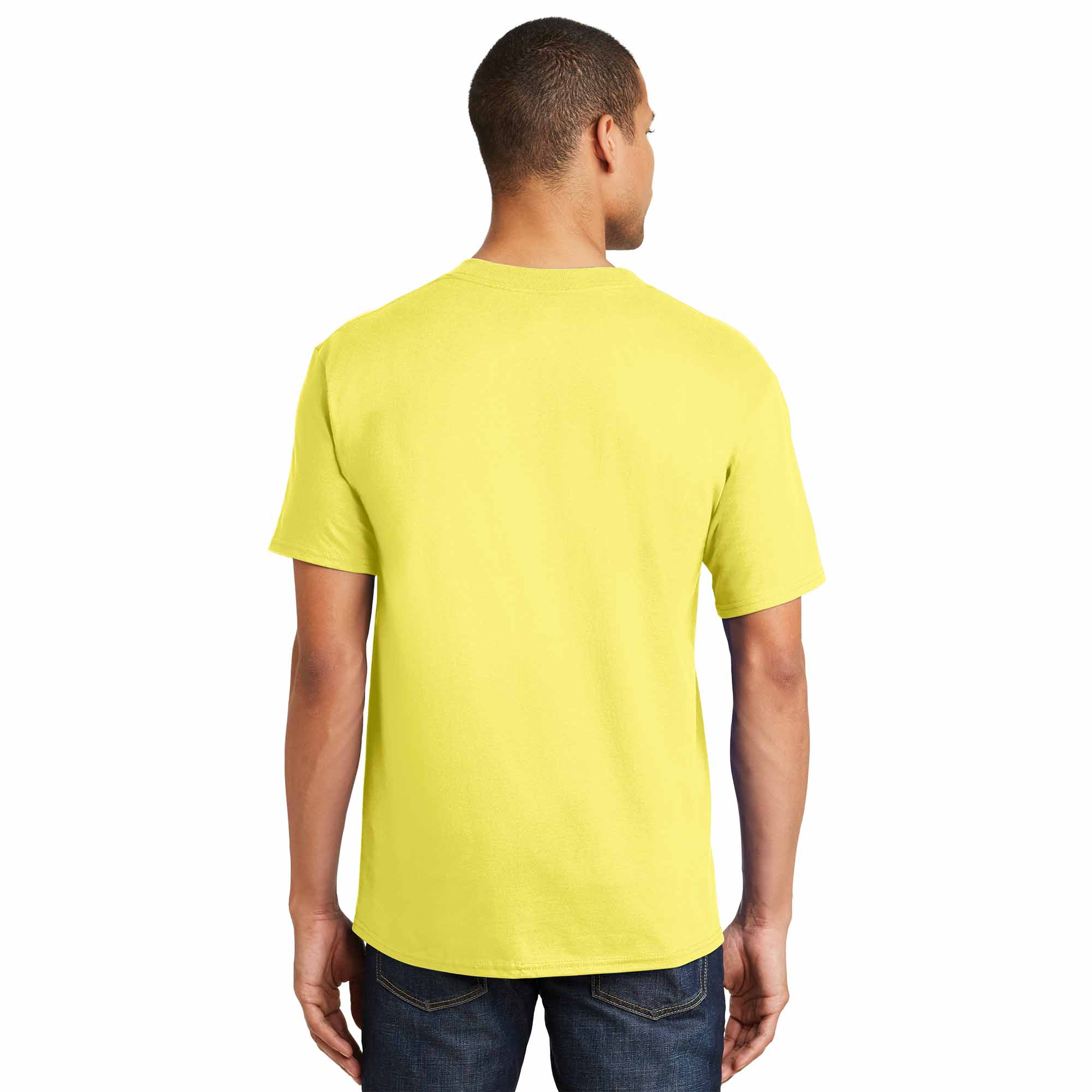 Hanes 5180 Beefy T Cotton T Shirt Yellow