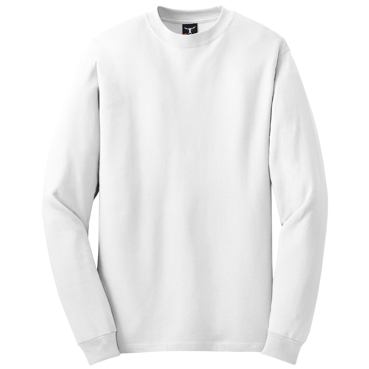 Hanes 5186 beefy t cotton long sleeve t shirt white for White cotton long sleeve t shirt