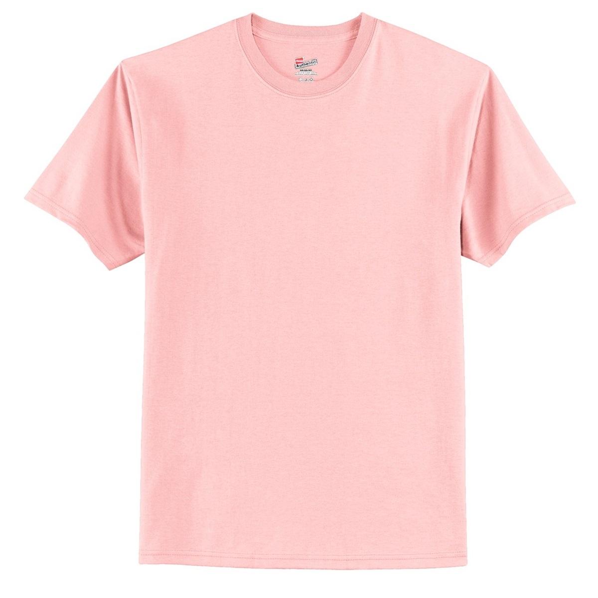 Hanes 5250 Tagless Cotton T Shirt Pale Pink