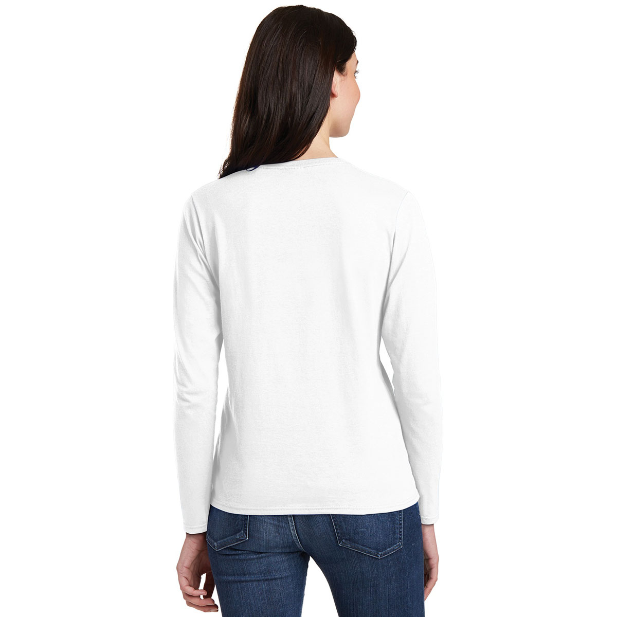 Gildan 5400l ladies heavy cotton long sleeve t shirt for White long sleeve tee shirt womens