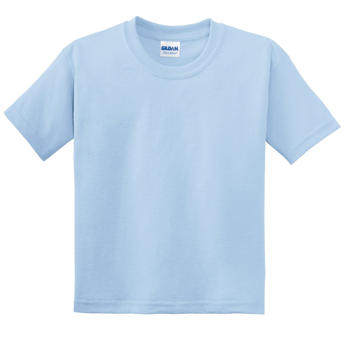 Gildan 8000b youth dryblend t shirt light blue for One color t shirt