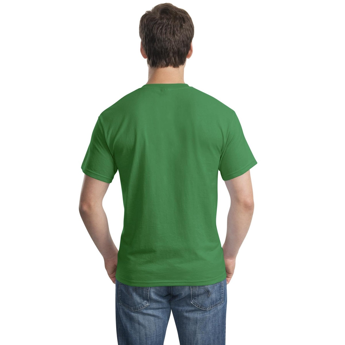 Gildan 8000 dryblend t shirt kelly green for Gildan camouflage t shirts