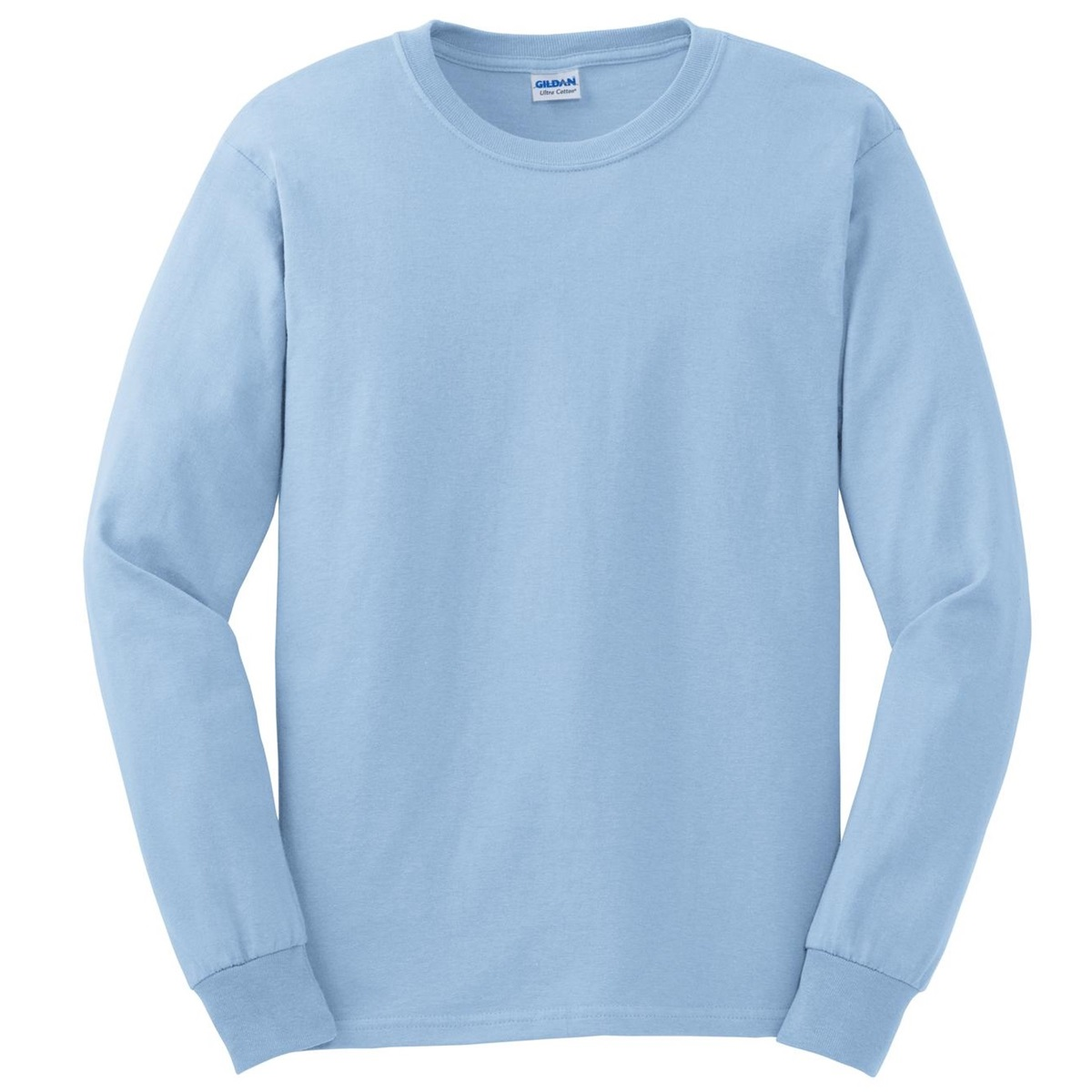 Gildan g2400 ultra cotton long sleeve t shirt light blue for Gildan camouflage t shirts