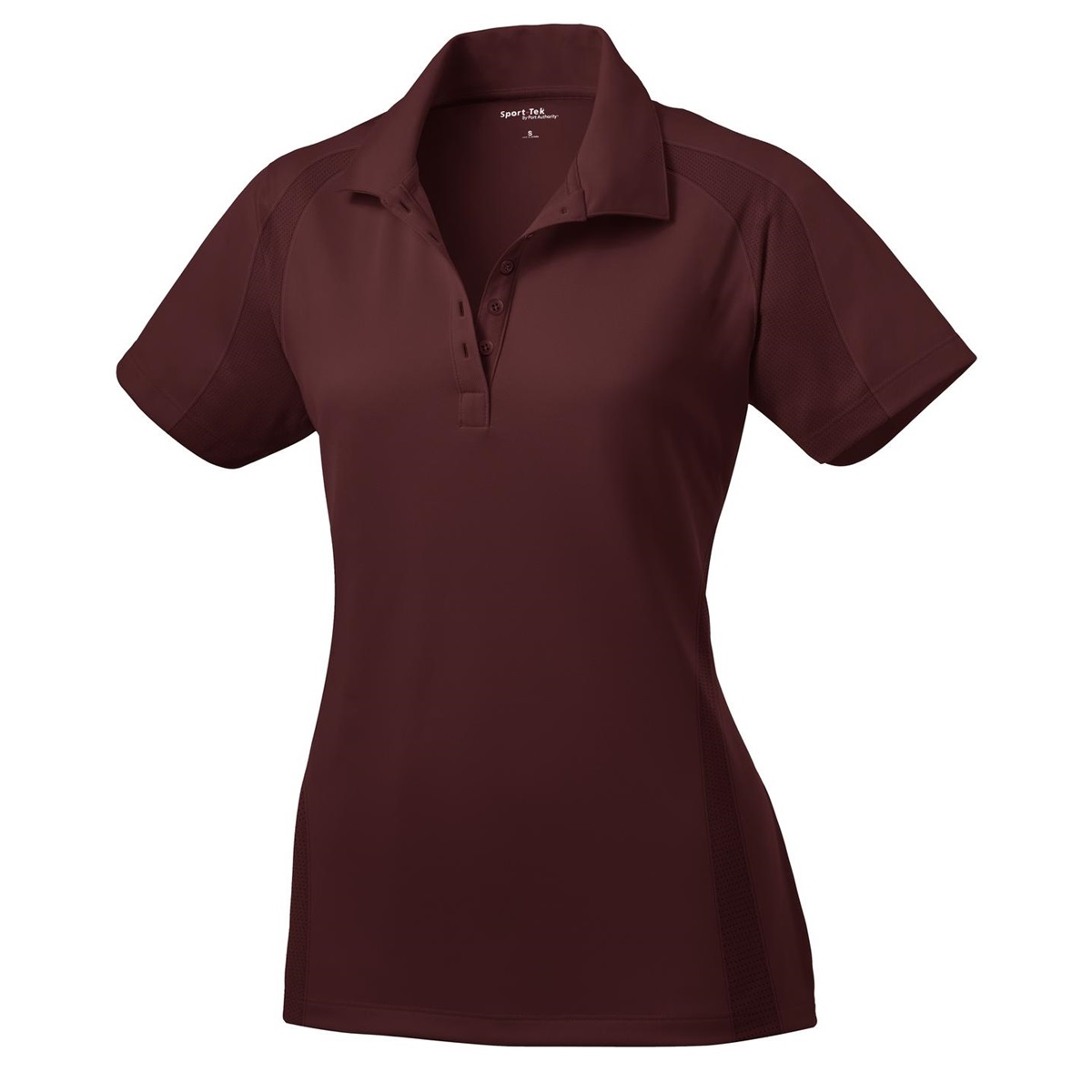 Sport tek l474 ladies dri mesh pro polo shirt maroon for Maroon dri fit polo shirt