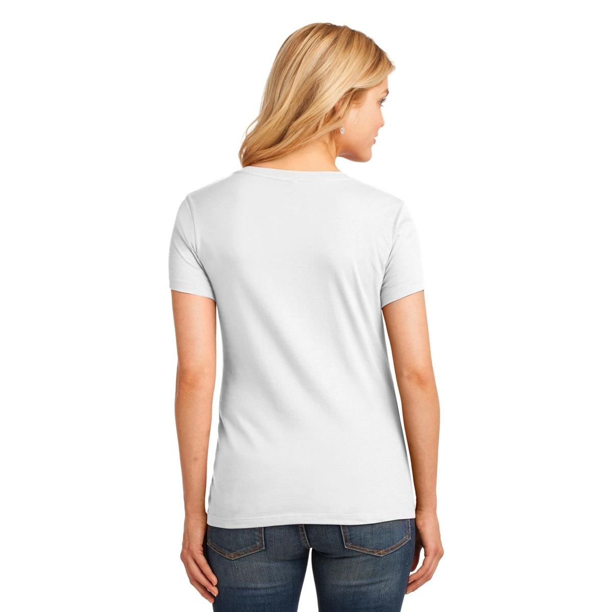 Port company lpc54v ladies 5 4 oz 100 cotton v neck t for White t shirt v neck