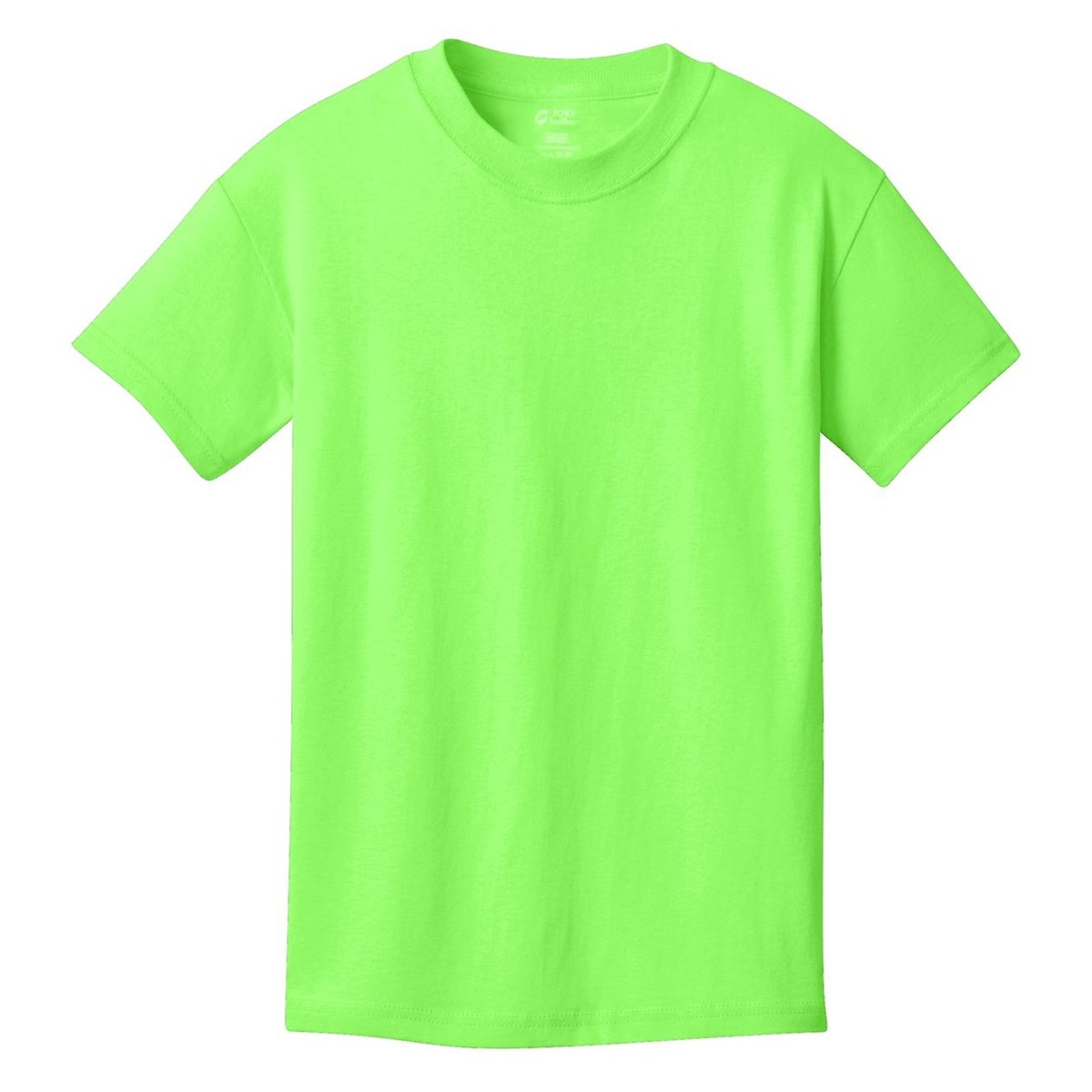 Port company pc54y youth 5 4 oz 100 cotton t shirt for Bulk neon t shirts