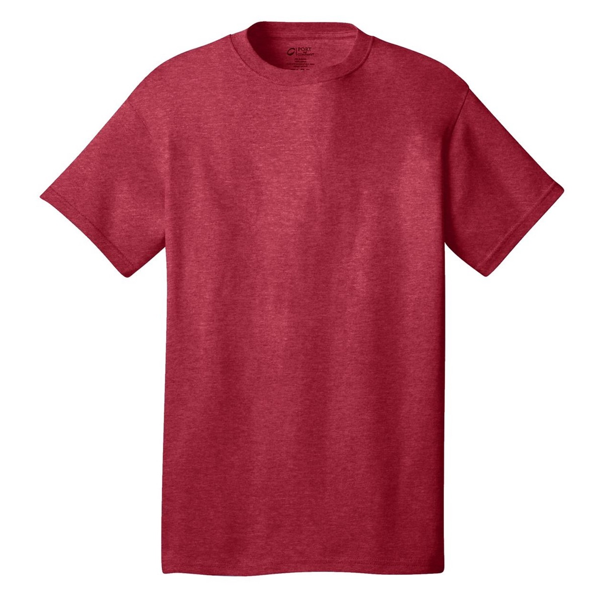 Port Company Pc54 5 4 Oz 100 Cotton T Shirt Heather