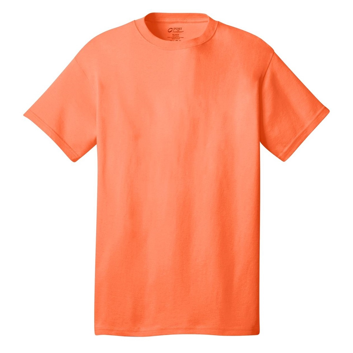 Port company pc54 5 4 oz 100 cotton t shirt neon for Bulk neon t shirts