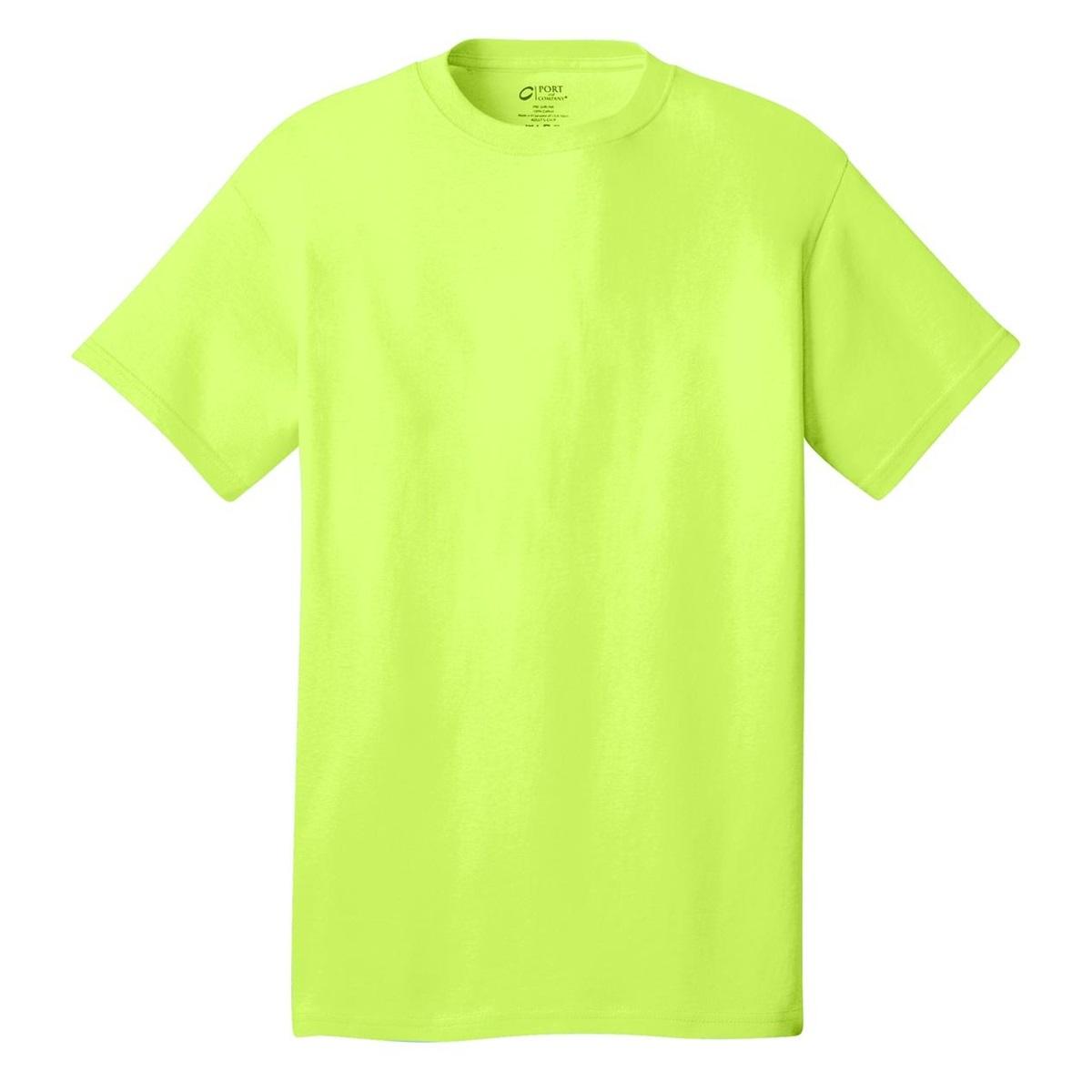 Port Company Pc54 5 4 Oz 100 Cotton T Shirt Neon