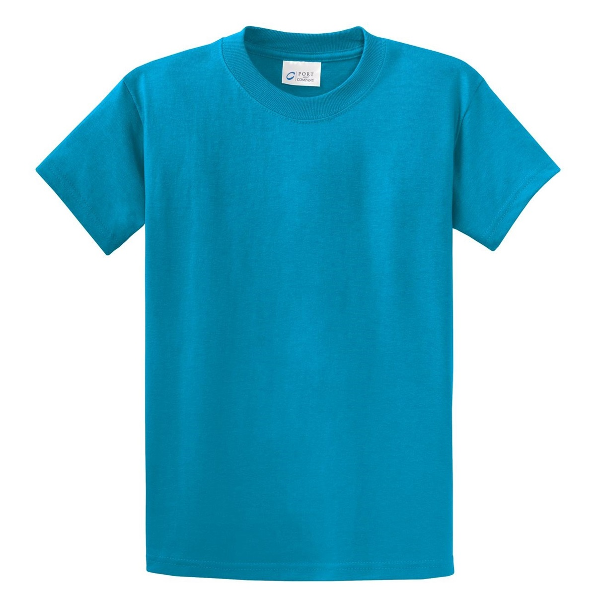 Port company pc61 essential t shirt turquoise for T shirt for company