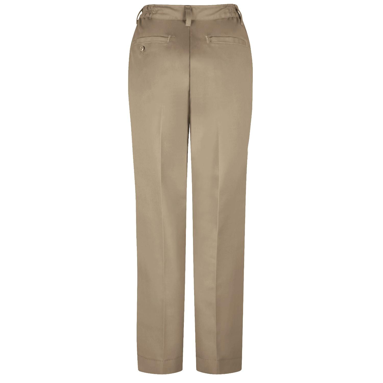 Luxury Wrangler WP71 Women39s Plain Front Work Pants  Khaki  FullSourcecom