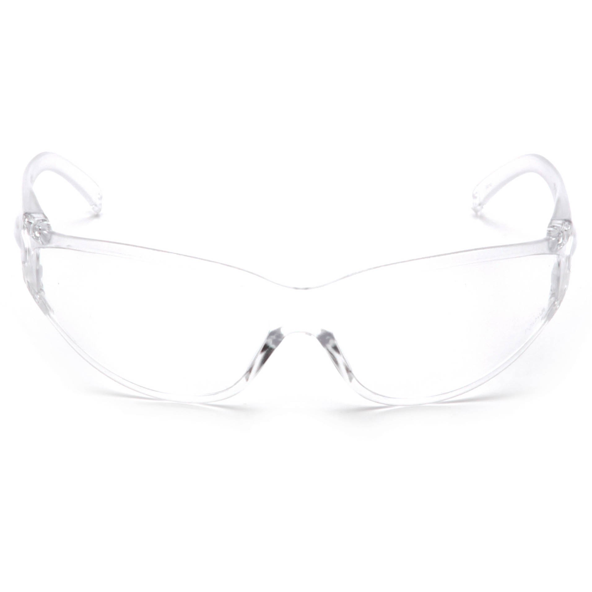 pyramex fastrac safety glasses clear frame clear lens