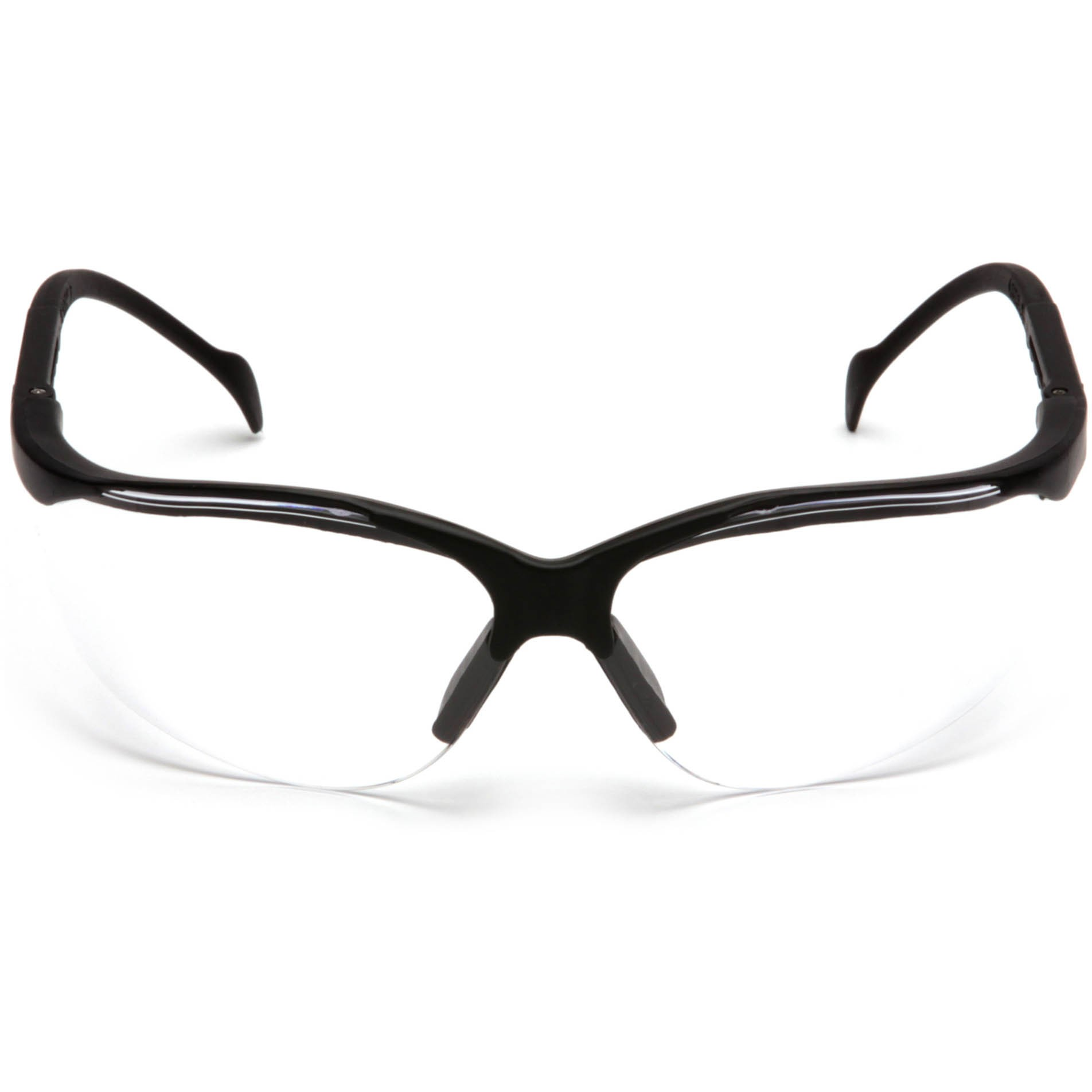 Pyramex Venture II Safety Glasses - Black Frame - Clear ...