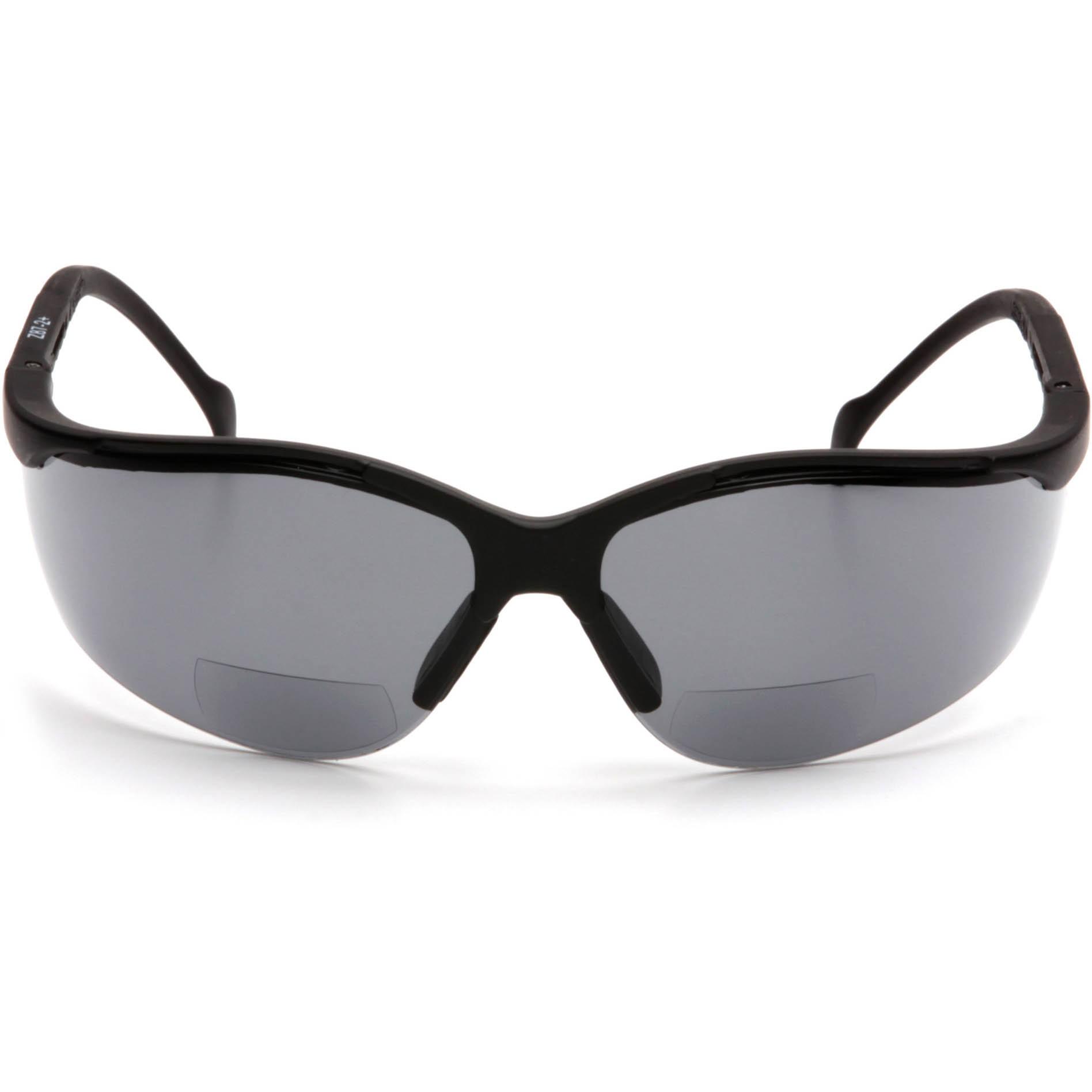 eaa3f202ac0c ... www.lesbauxdeprovence. Pyramex SB1820R Venture II Readers Safety Glasses  - Black Frame - Gray Bifocal Lens