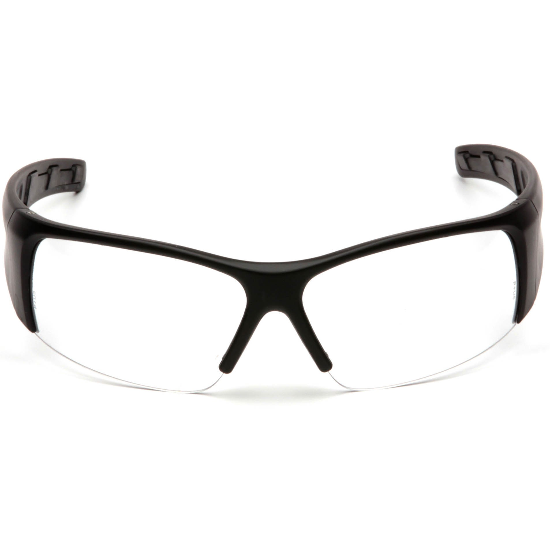 Black Frame Glasses Clear Lens : Pyramex PMXTORQ Safety Glasses - Black Frame - Clear Lens ...