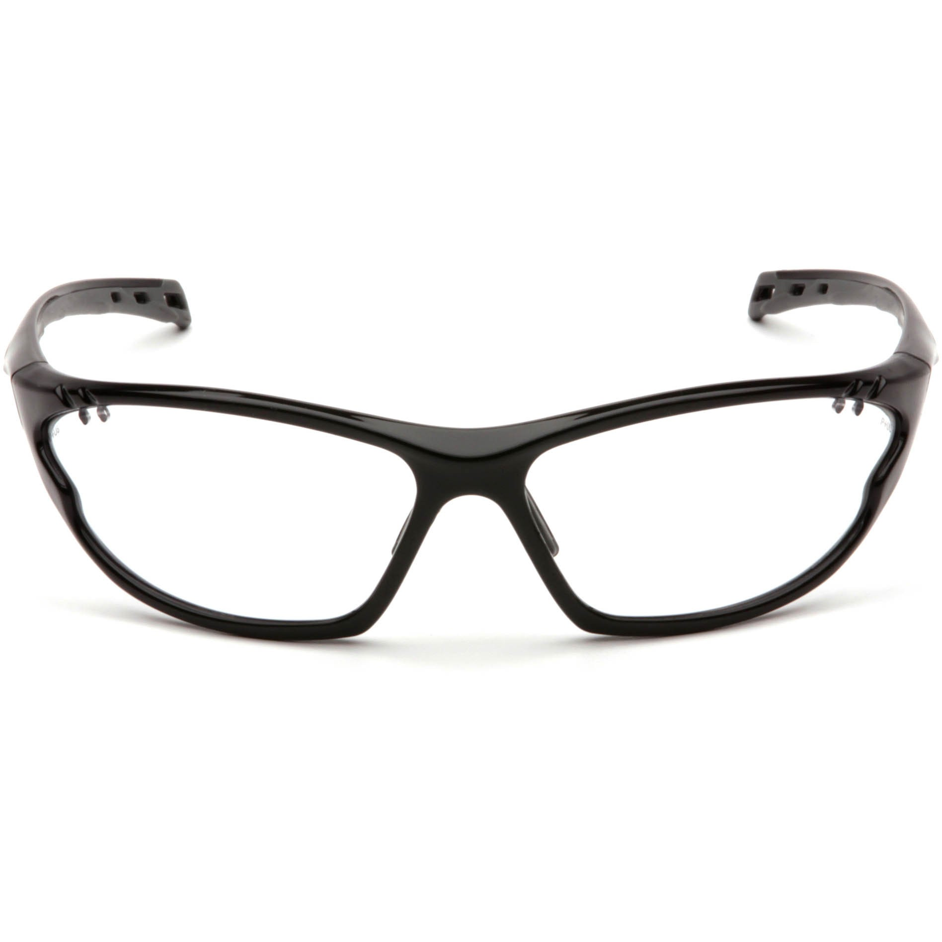 Black Frame Glasses Clear Lens : Pyramex PMXCITE Safety Glasses - Black Frame - Clear Lens ...