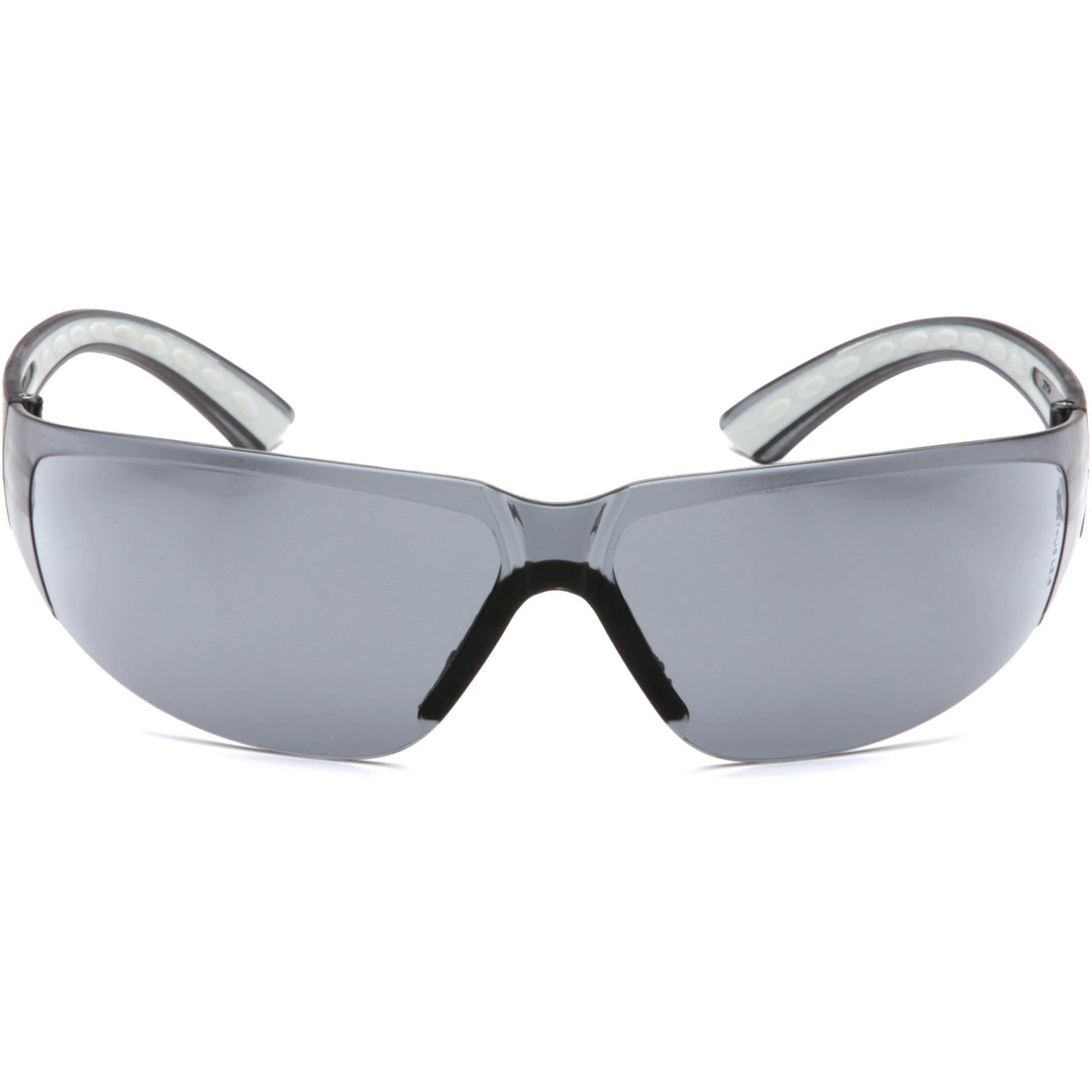 Glasses Gray Frame : Pyramex Cortez Safety Glasses - Gray Temples - Gray Frame ...