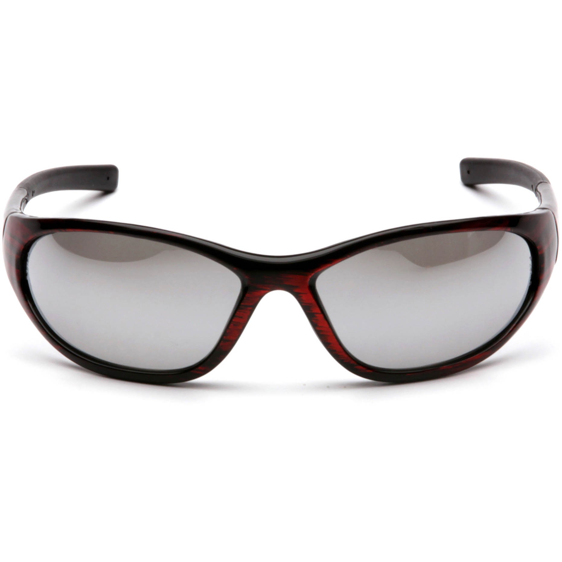 Wood Frame Safety Glasses : Pyramex Zone II Safety Glasses - Red Wood Frame - Silver ...