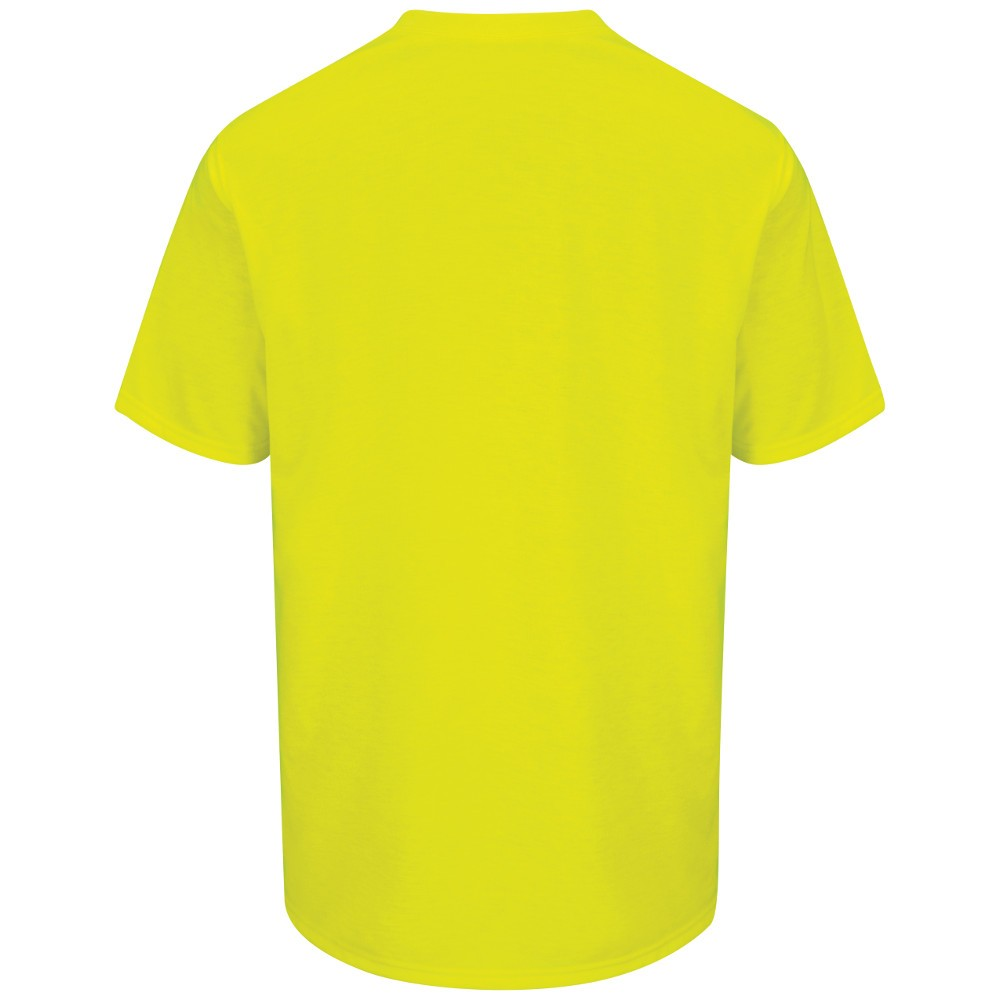 Red kap rt32sy high visibility work t shirt safety for Safety logo t shirts
