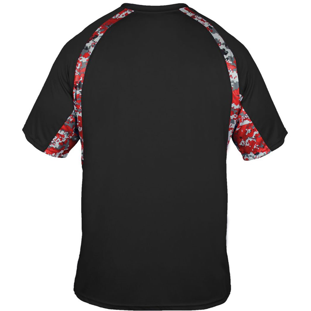 16c38354915 ... Black And Red Camouflage Shirts: Badger Sport 2140 Digital Camo Youth  Hook T-Shirt