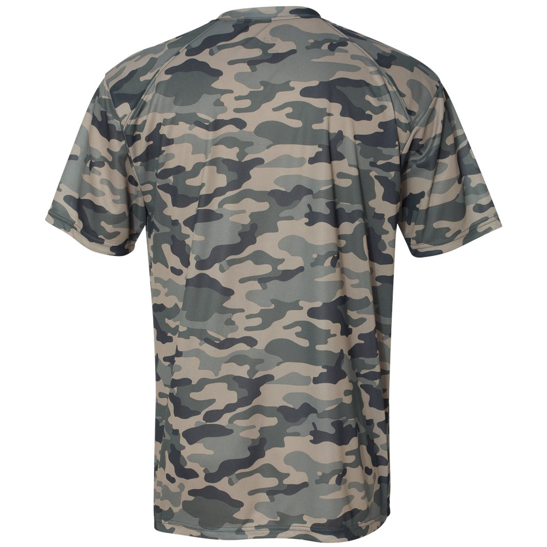 Badger sport 4181 camo short sleeve t shirt sand for Gildan camouflage t shirts