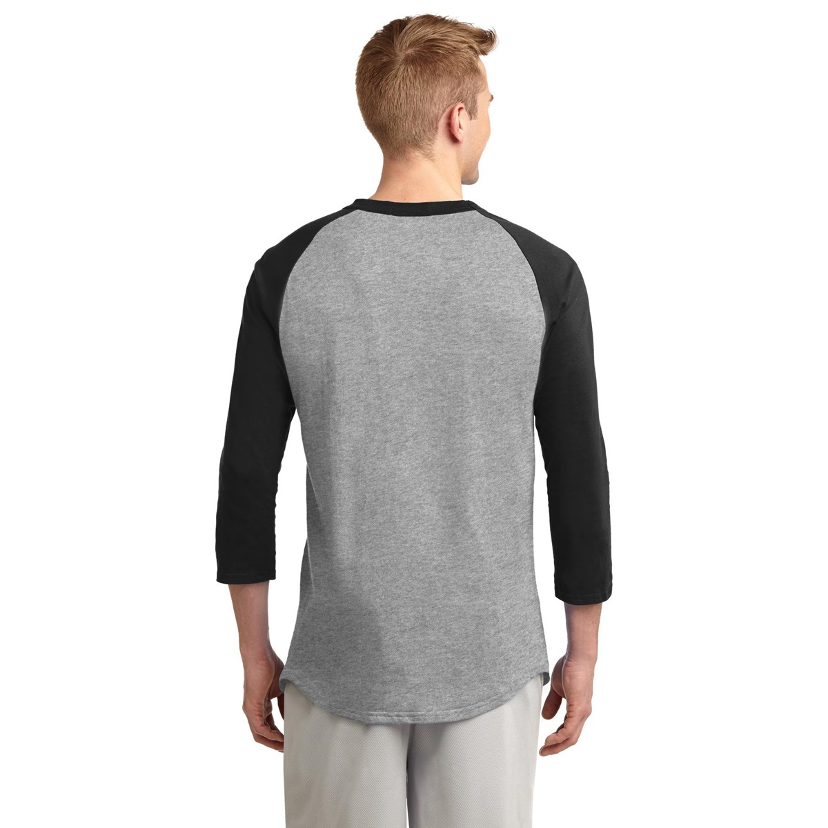 Sport-Tek T200 Colorblock Raglan Jersey - Heather Grey ...