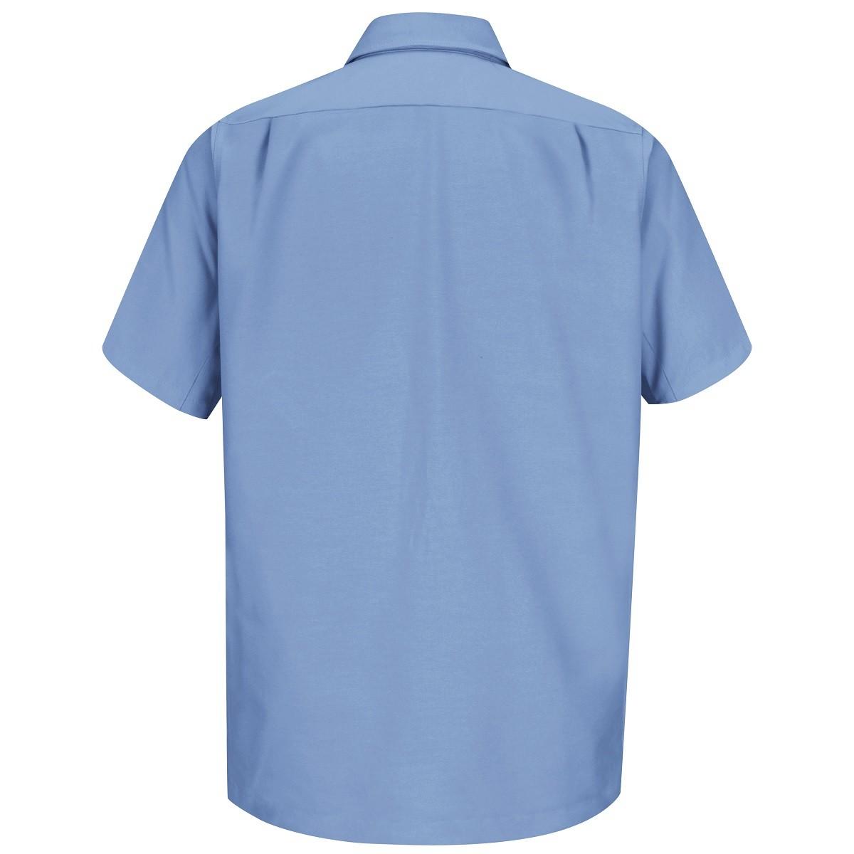 Wrangler Ws20 Men 39 S Short Sleeve Work Shirt Light Blue