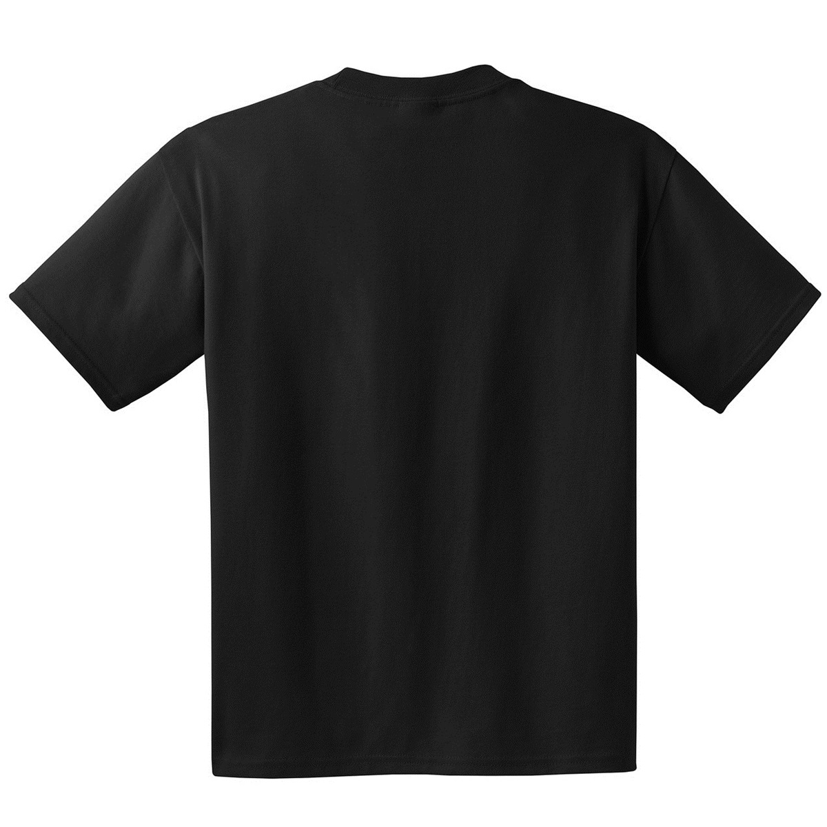 Hanes 5190 Beefy T Cotton T Shirt With Pocket Black