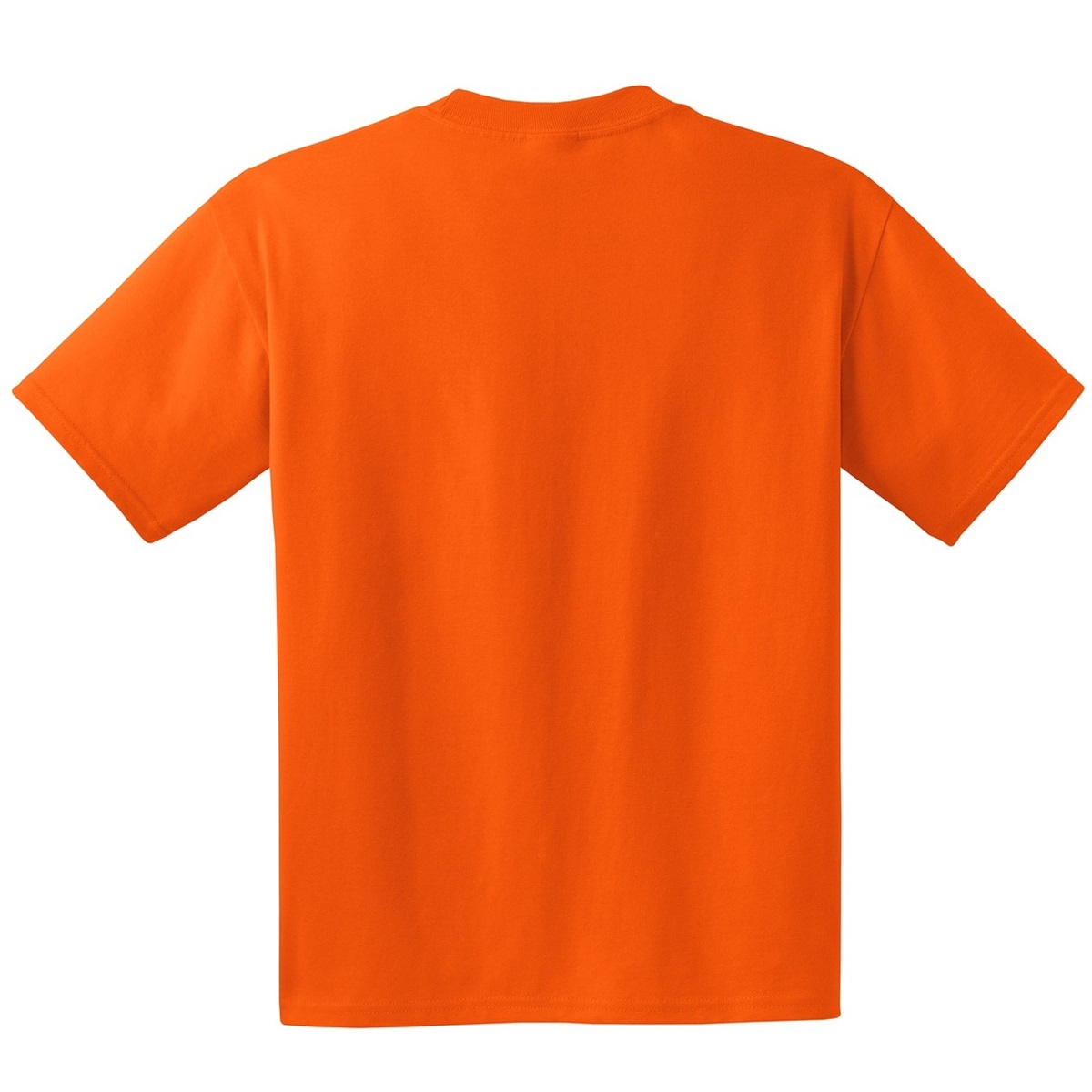 Hanes 5190 Beefy T Cotton T Shirt With Pocket Orange