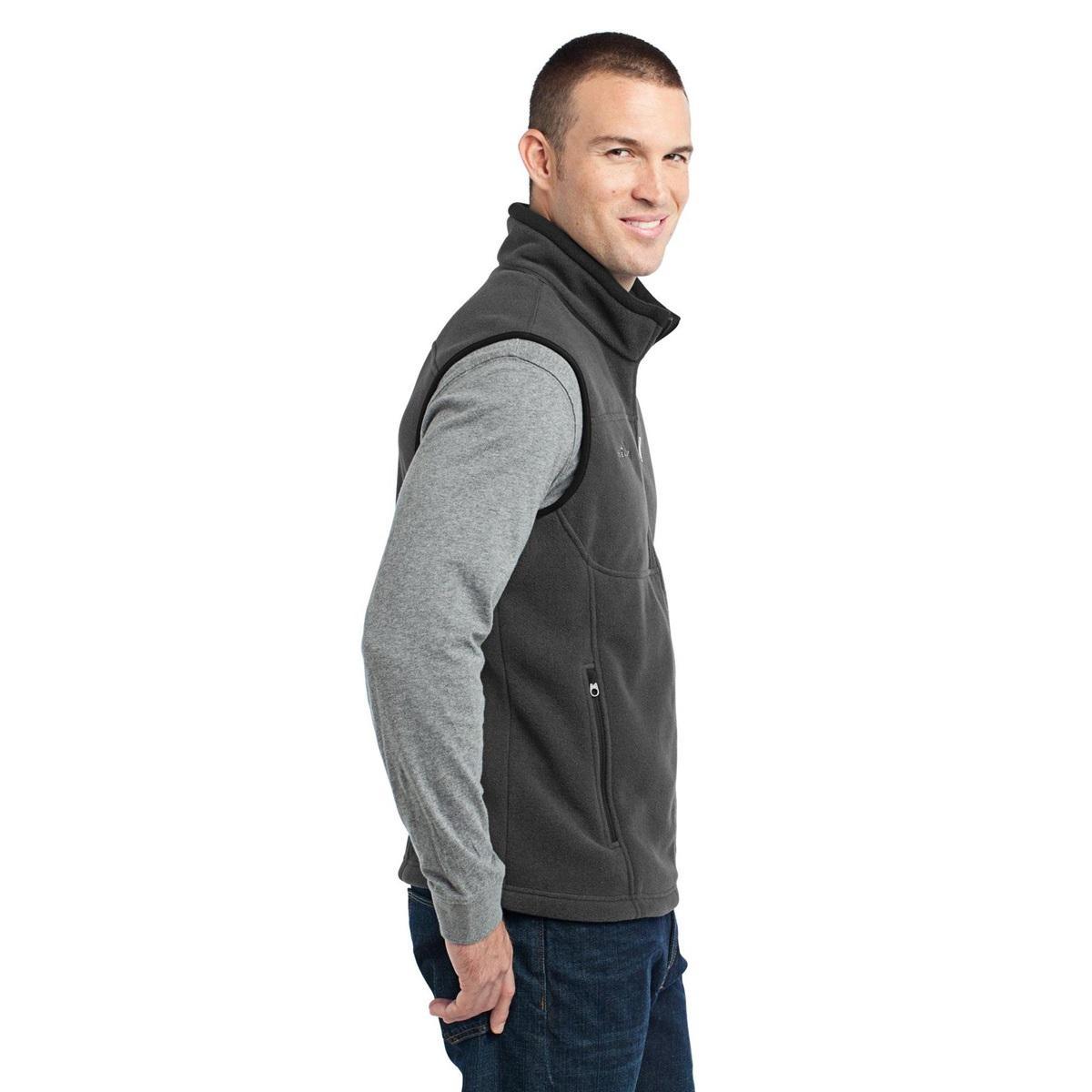 eddie bauer vest fleece grey steel fullsource