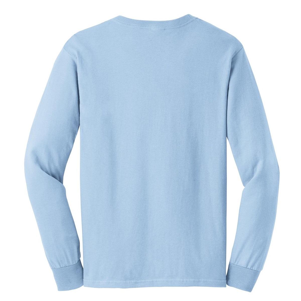 Gildan G2400 Ultra Cotton Long Sleeve T-Shirt - Light Blue ...