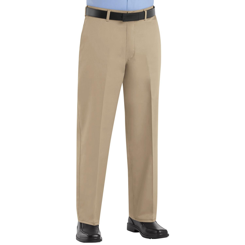 Red Kap Pc44 Men 39 S Plain Front Cotton Pants Khaki