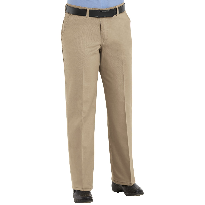 Red Kap Pc45 Women 39 S Plain Front Cotton Pants Khaki
