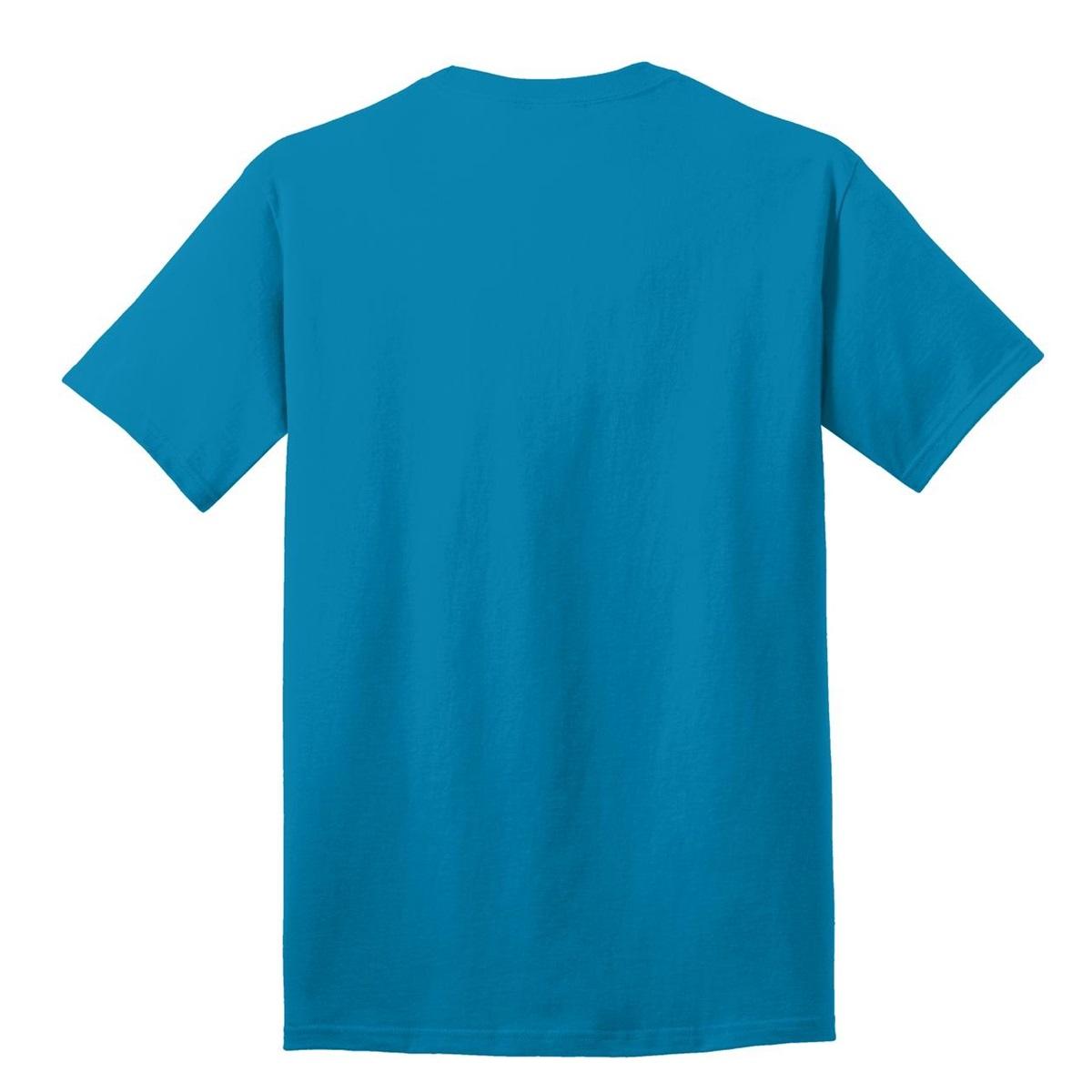 Port Company Pc54 5 4 Oz 100 Cotton T Shirt Neon Blue