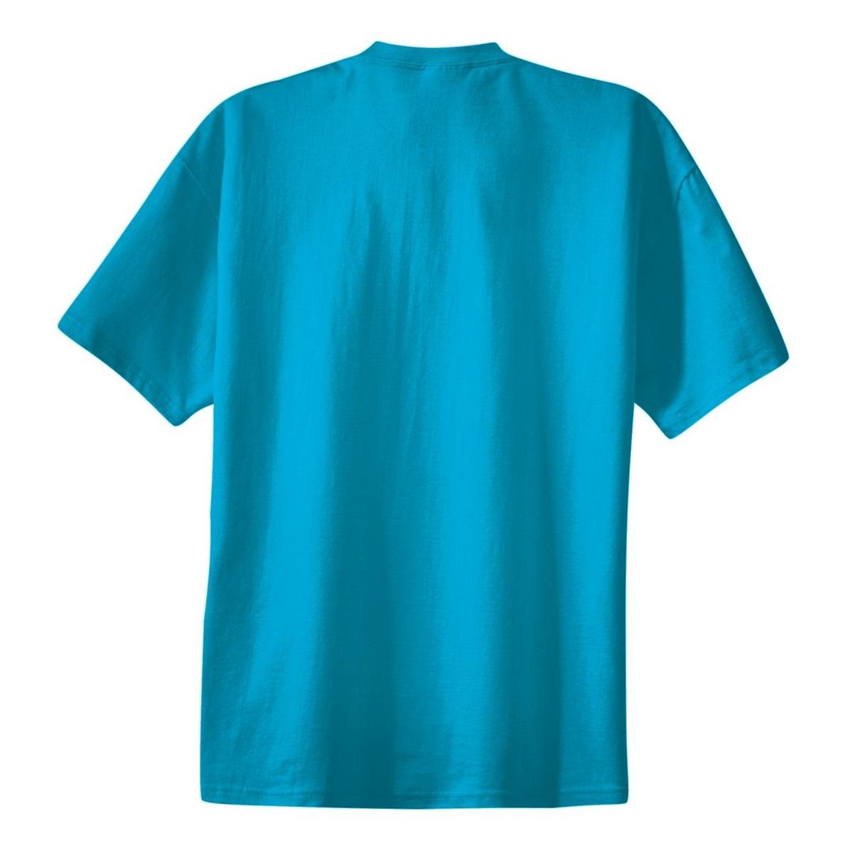 Port company pc61 essential t shirt turquoise for Aqua blue color t shirt