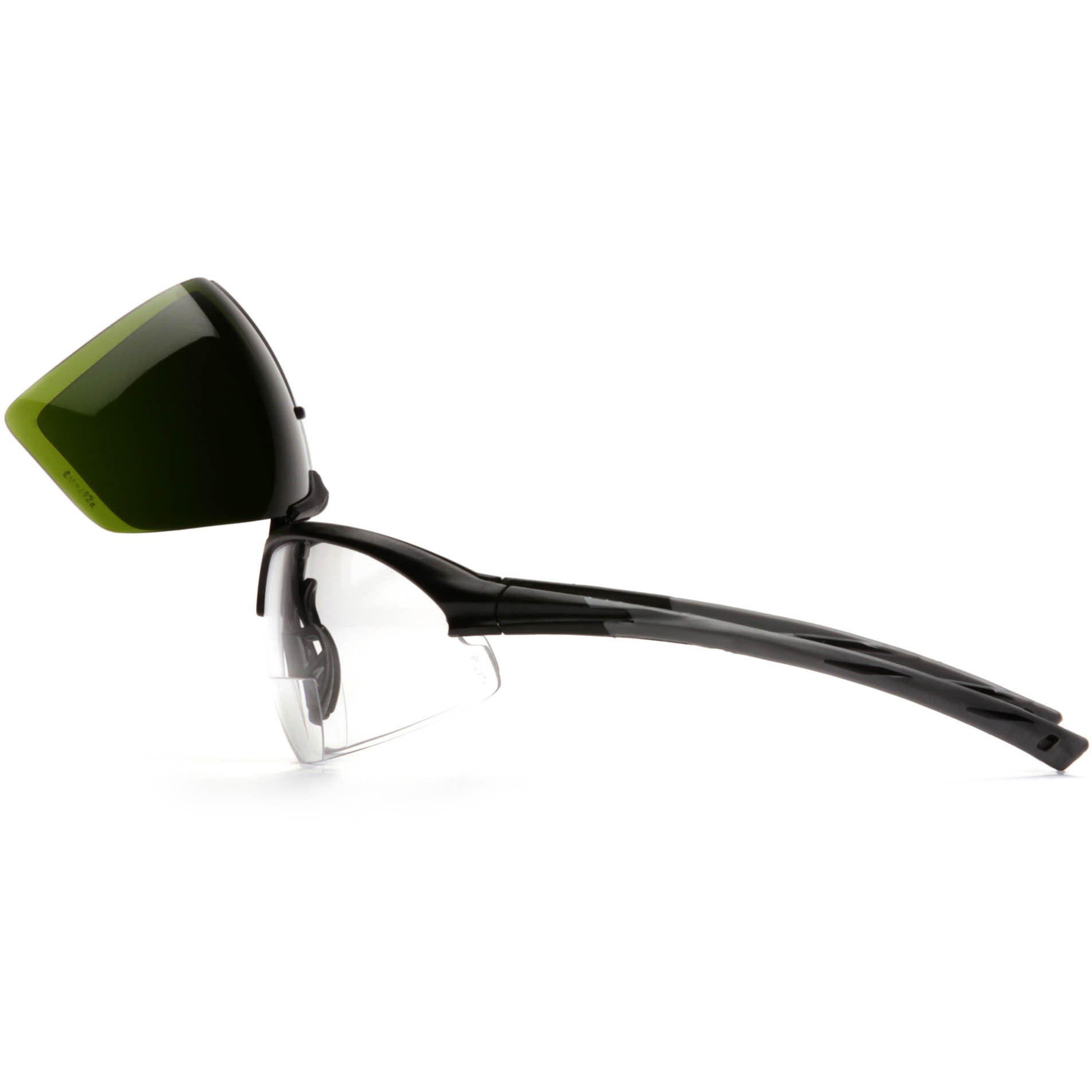 Pyramex Onix Plus Safety Glasses - Black Frame - Clear ...