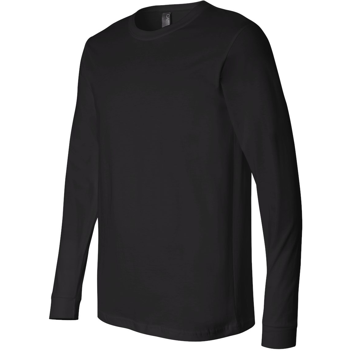Bella Canvas 3501 Long Sleeve Jersey Tee Black