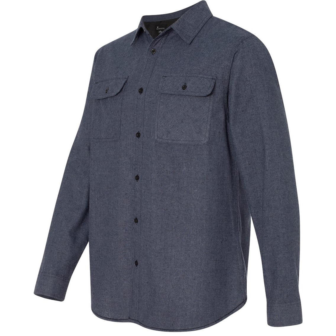 Burnside b8200 solid long sleeve flannel shirt denim for Flannel shirt and jeans