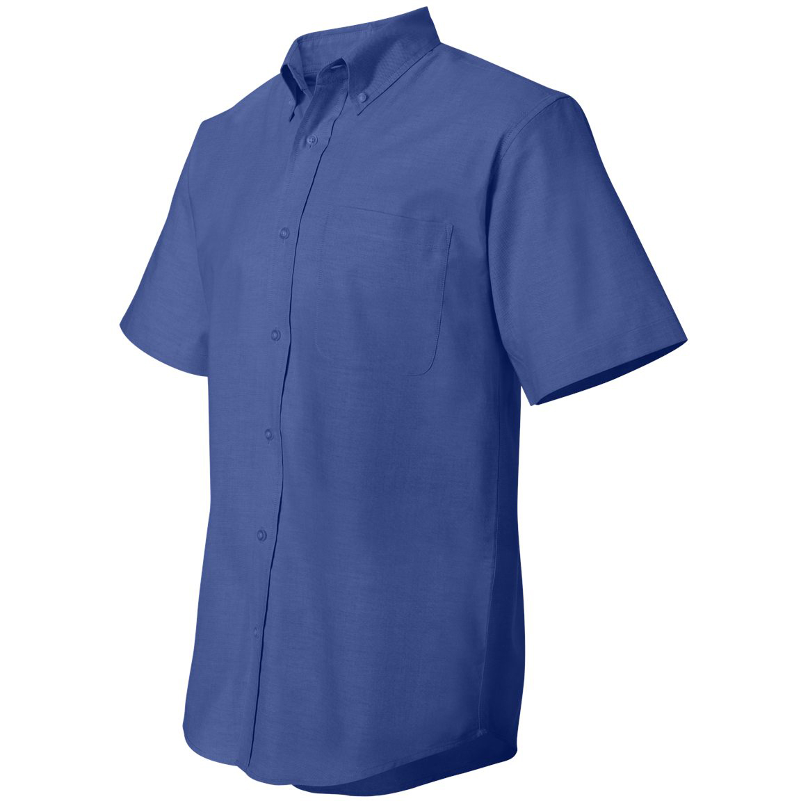 Featherlite 0231 short sleeve stain resistant oxford shirt for French blue oxford shirt