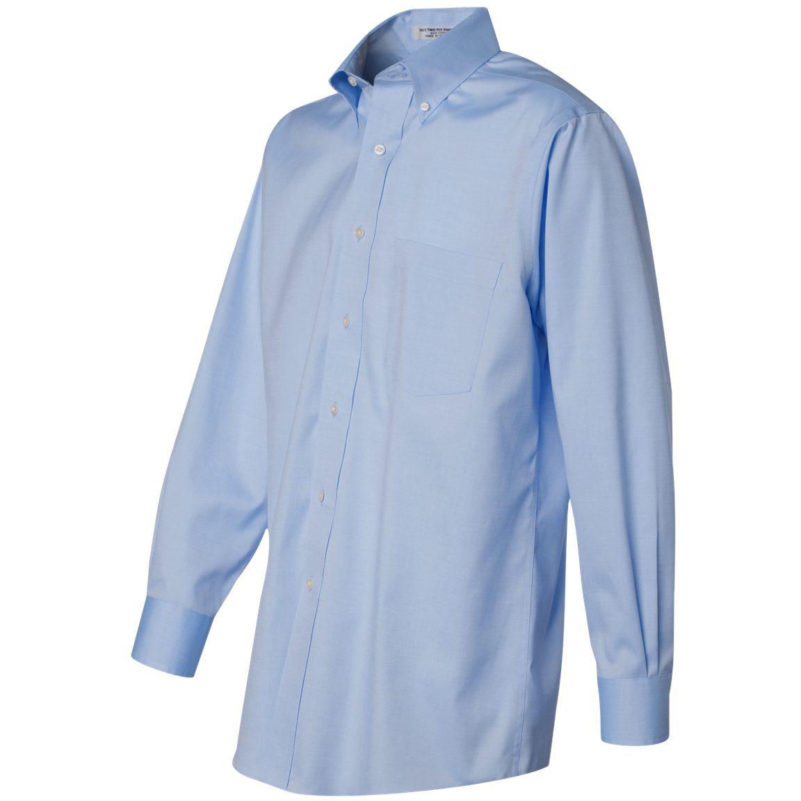 Van Heusen 13v0143 Non Iron Pinpoint Oxford Shirt Blue