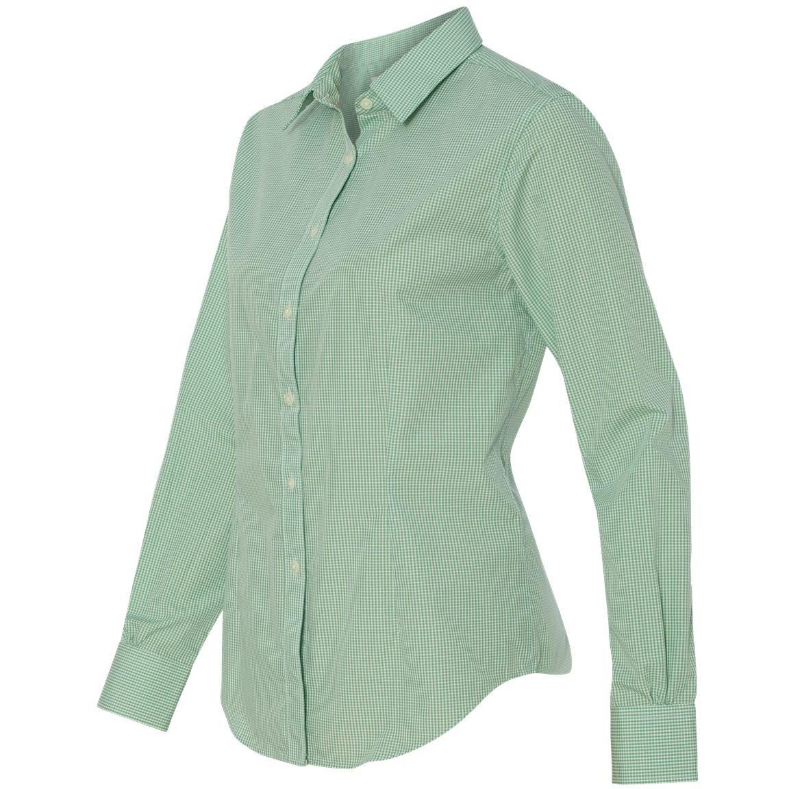 Van Heusen 13v0226 Women 39 S Gingham Check Shirt Green