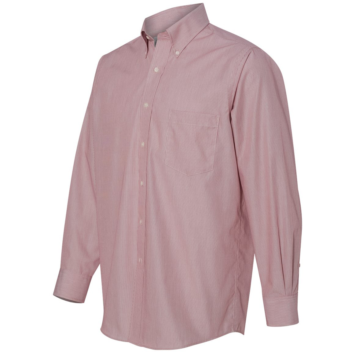 Van heusen 13v0420 non iron featherstripe shirt red for Van heusen non iron shirts